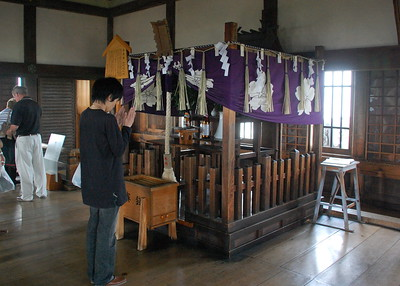 The Osakabe Shrine, inside the main tower of Himeji Castle