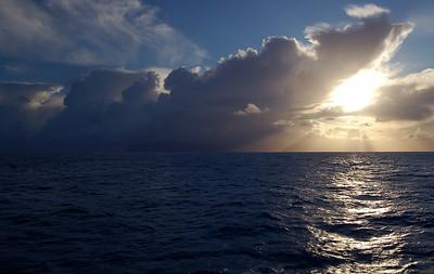 Atlantische Gewitterfront