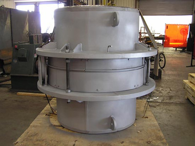 Single Hinged Expansion Joint With Refractory Lining
