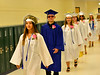 Jewel-Elisa Morrison, a graduating senior from Hinsdale Middle High School, and others walk through the halls of the school at the start of the graduation ceremony on Saturday, June 12, 2021.