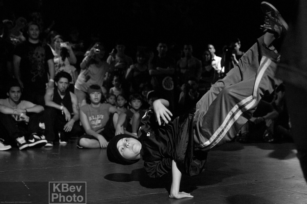 BBoy P-nut may have been in the shorty battle, but he's no joke
