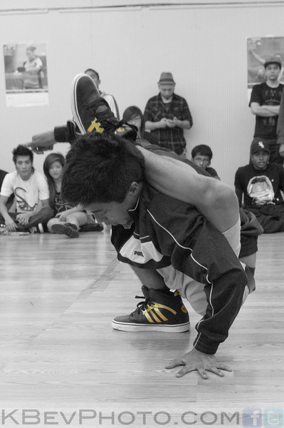 BBoy Virgil with his signature move