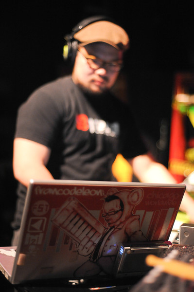 Dj Franco DeLeon with the custom Mac skin