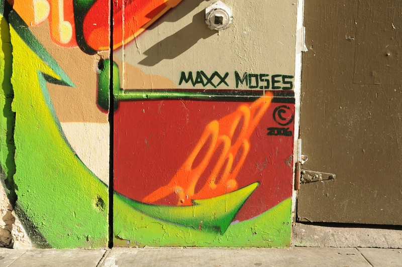 "Max Moses - the artist of ""Color of my Soul"" on Turk St. & Mason St."