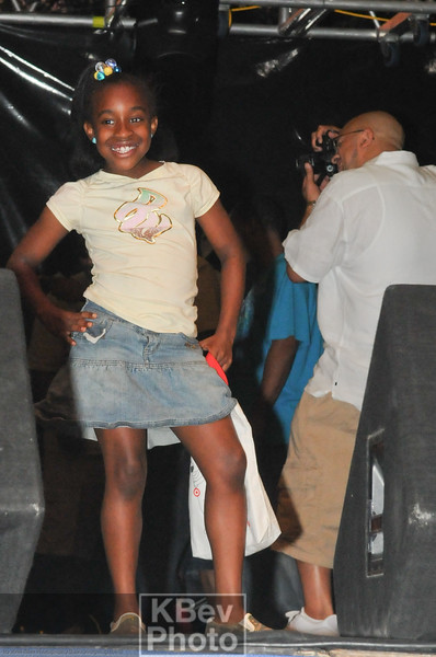 Before Brand Nubian came out, this girl was on the stage and just posed for no apparent reason.  The crowd loved it.