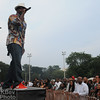 Camp Lo was the opening hip hop act, and the crowd was into it from the start