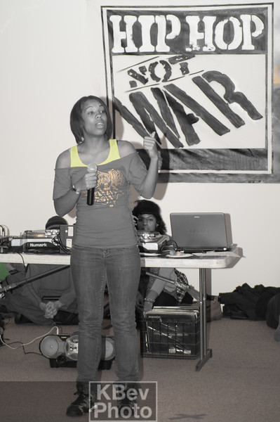 Poet Tanya did her thing for the crowd