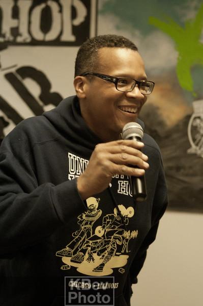 MC Raven of the University of Hip Hop (aka The coolest social studies teacher on the planet)
