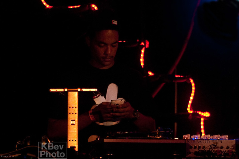 Not a good look when your DJ is texting during the set