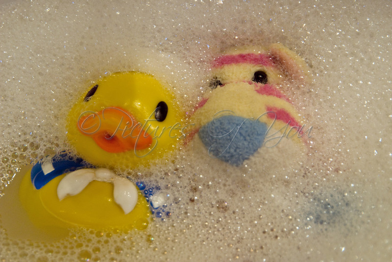 Rubber ducky in the tubby.....