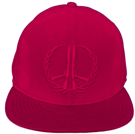 Vintage Hippy Thug Blood Red Velvet Flat Brim Hat
