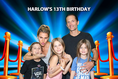 Harlow's 13 Birthday.  Photo booth by Venice Paparazzi