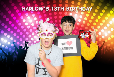 Harlow's 13 Birthday.  Photo booth by Venice Paparazzi