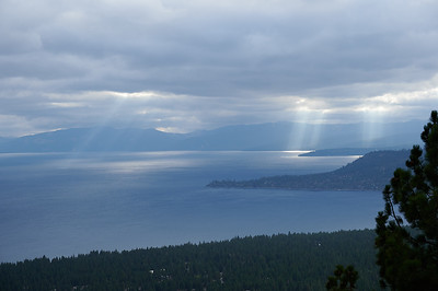 Lake Tahoe and Crespecular Rays