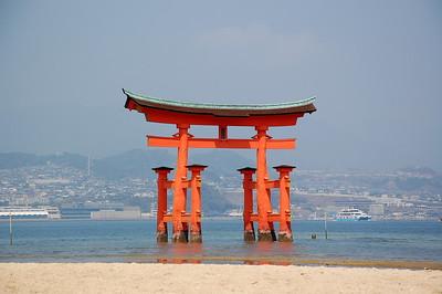 The torii of Itsukushima Shrine