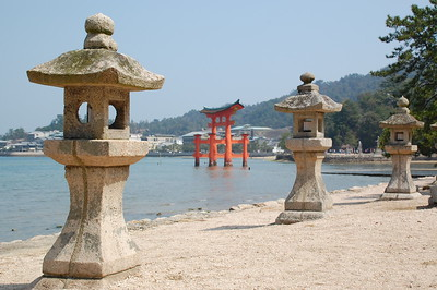 The torii at Itsukushima Shrine