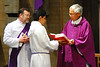 Fr. Dennis Sevilla, Deacon Ted, and Server Jose