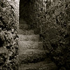 Escalier, château de Villerouge Termenès, Aude