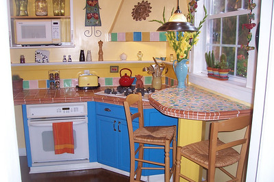 Cooking is not a chore in this fun kitchen.