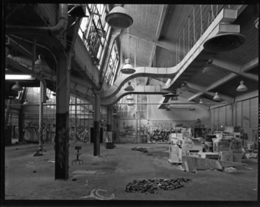 U.C. Print Shop before renovation, 4x5 contact print