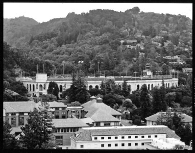 California Memorial Stadium, seen from Sather Tower