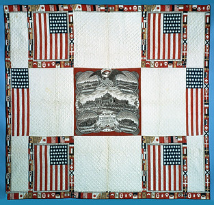 Esther Elizabeth (Rose) Cooley Quilt, 1876 (74-8442)