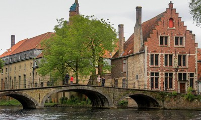 Stylish bridges are everywhere in Bruges.