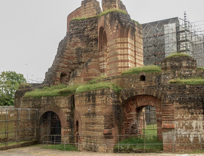 Trier was an integral part of the Roman Empire in its heyday. Here are ruins of a large bathhouse complex we toured.