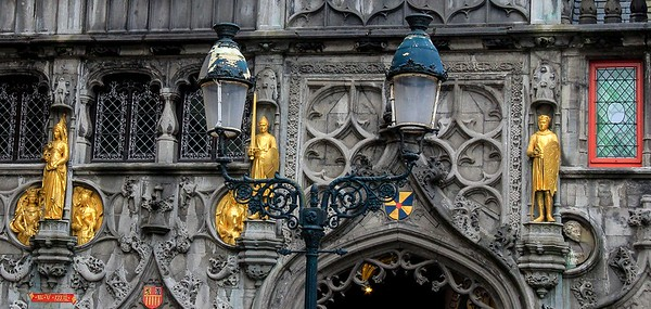 Building detail, Bruges.