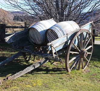Wine Barrel Cart