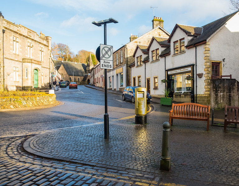 Dunblane and the famous golden Post Box