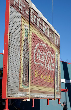 Historic Coca-Cola Sign Moved in Lafayette