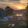 KM Fox River Pix-935 - Combined Locks at Sunset
