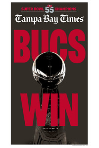 16 x 24 - Bucs Win Super Bowl 55