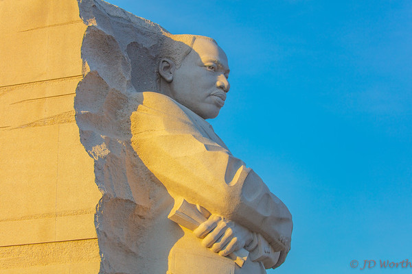 Martin Luther King Memorial - Golden Hour Profile Bust - H4a