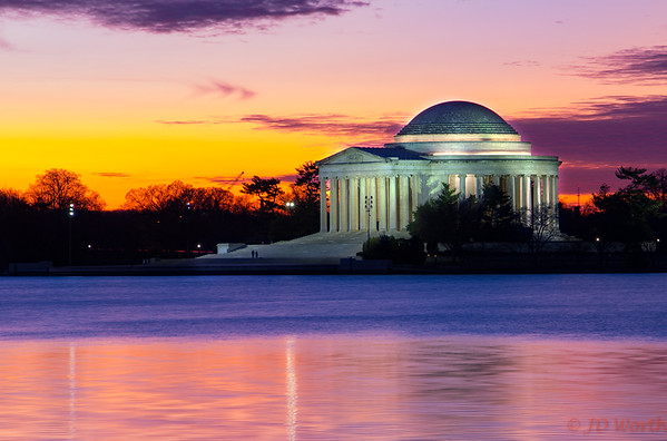 Jefferson Memorial Sunrise January 31, 2018 - H6
