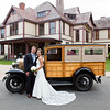 Bride and groom at their vintage Cape Cod wedding, catered by The Casual Gourmet.