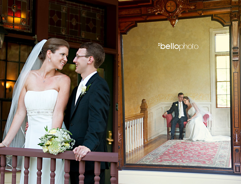Bride and groom at Historic Highfield Hall in Falmouth (By Bello Photography)