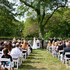 Cape Cod wedding ceremony outside at Highfield Hall (By Bello Photography)