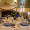 Table setting for a Cape Cod wedding indoors at Historic Highfield Hall.