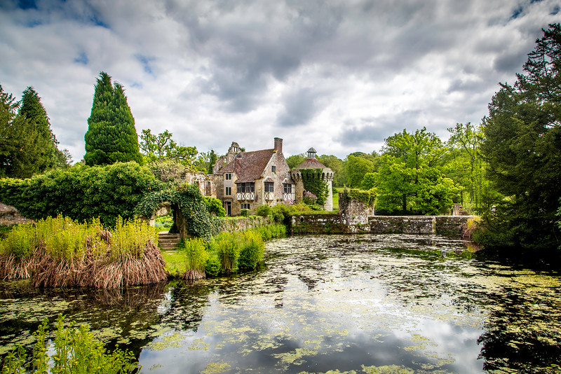 Scotney Castle over the moat