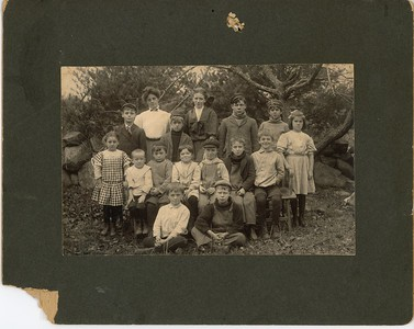 School Children from Schoolhouse #2, circa early 1900's