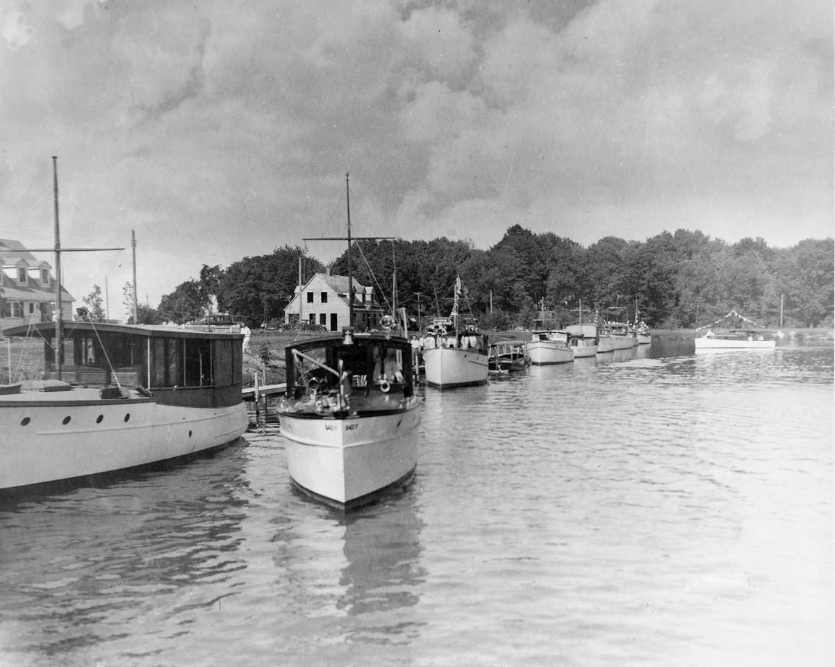 VYC First Fleet Parade, July 1933, Leaving Ontario Lagoon