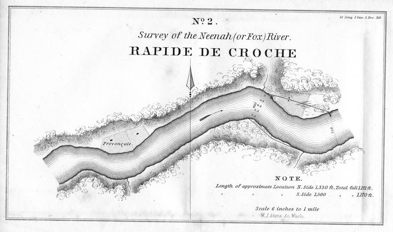 Historic Rapid de Croche 1840 Survey