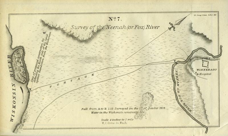 Historic Fox Wisconsin Portage 1839