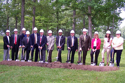 library groundbreaking 2006 officials w shovels