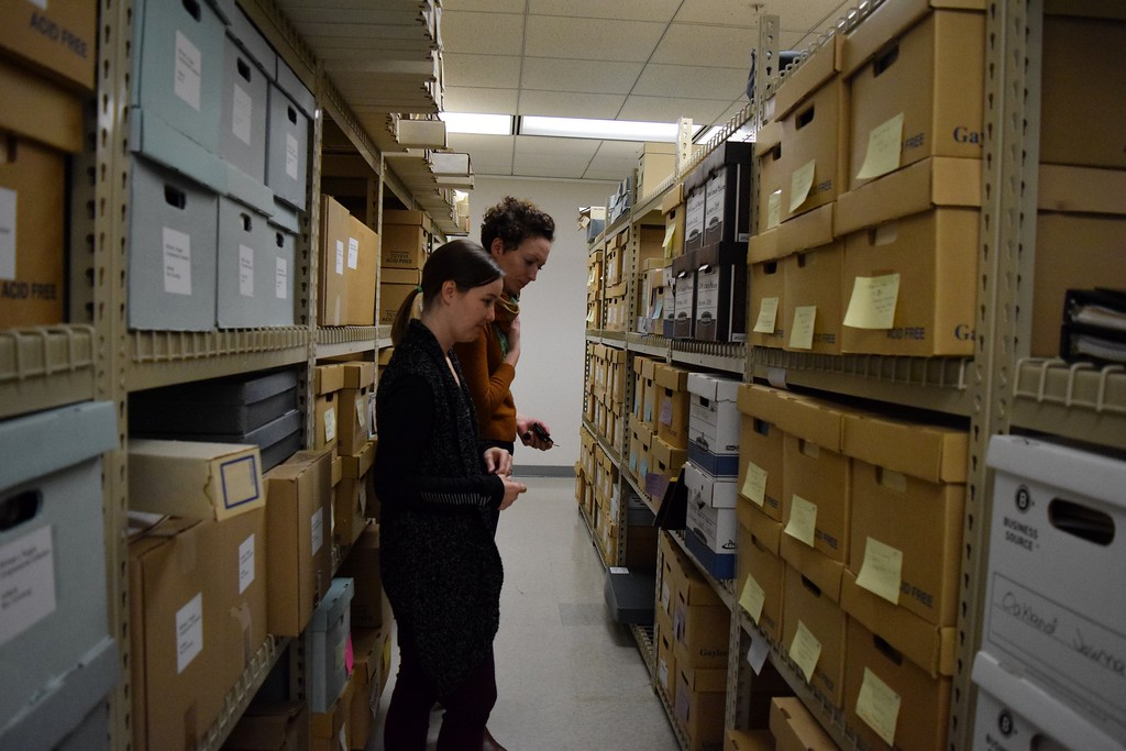 . Inside the Oakland University archive, in the lower-level of the Kresge Library at Oakland University on Tuesday, Dec. 12, 2017.