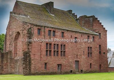 Ancient Ruins The Abbots House Arbroath Abbey Scotland