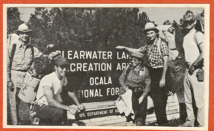 The first work crew on the Florida Trail, October 29, 1966