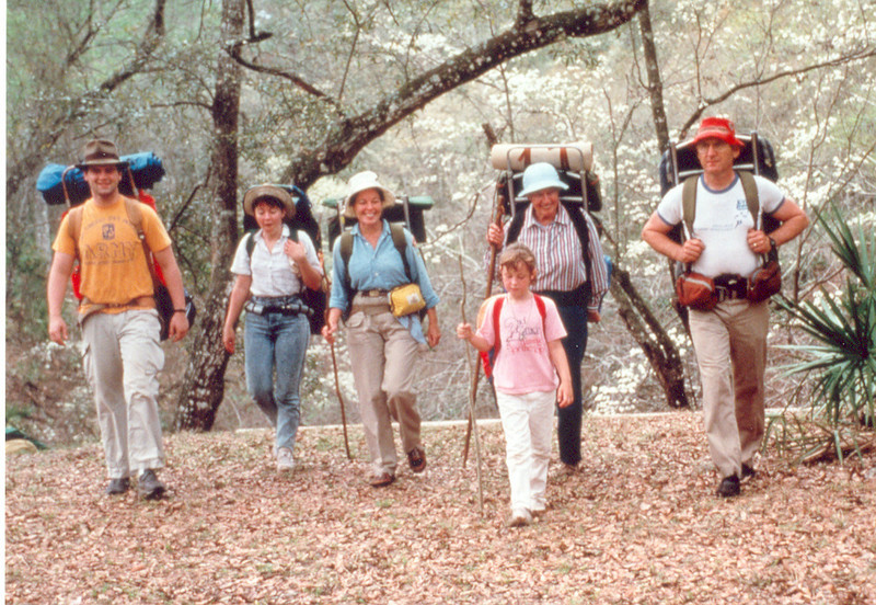 January 1992<br /> Fred Mulholland and four generations of hikers